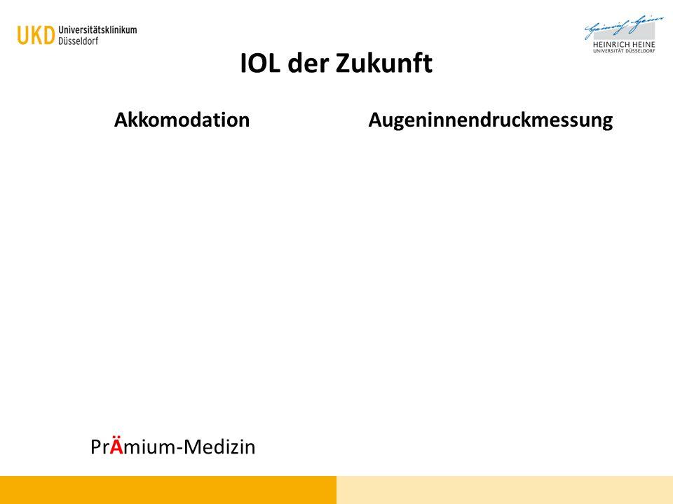 IOL der Zukunft AkkomodationAugeninnendruckmessung PrÄmium-Medizin