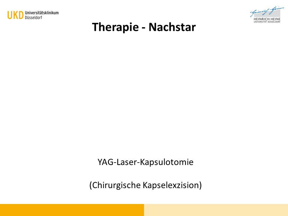 Therapie - Nachstar YAG-Laser-Kapsulotomie (Chirurgische Kapselexzision)