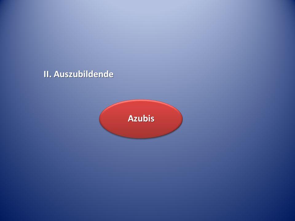 II. Auszubildende Azubis