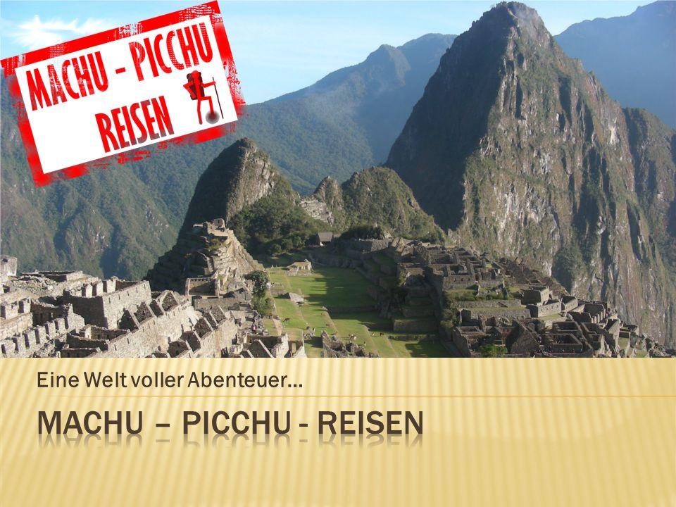 1 Tagesreise (per Zug / je 4h Hin- & Zurück) 1 Tagesreise 2 Tagesreise (per Zug mit Übernachtung) 2 Tagesreise 3 Tagesreise (Aufenthalt in Aguas Calientes) 3 Tagesreise 4 Tagesreise (Lares– oder Inca-Jungle-Trek) 4 Tagesreise 5 Tagesreise (Salkantay Trek) 5 Tagesreise