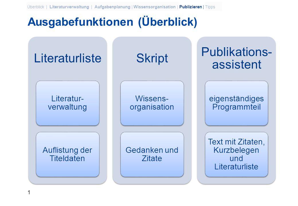 Citavi 3 – Publizieren + Tipps Dr. Christiane Holtz, holtz@ulb.uni-bonn.de, März 2010holtz@ulb.uni-bonn.de