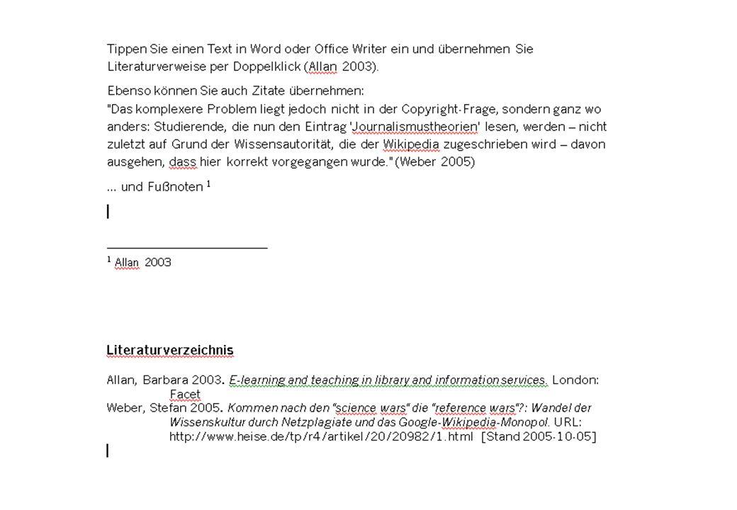 12 Überblick | Literaturverwaltung | Aufgabenplanung | Wissensorganisation | Publizieren | Tipps Dokument auswählen: Citavi