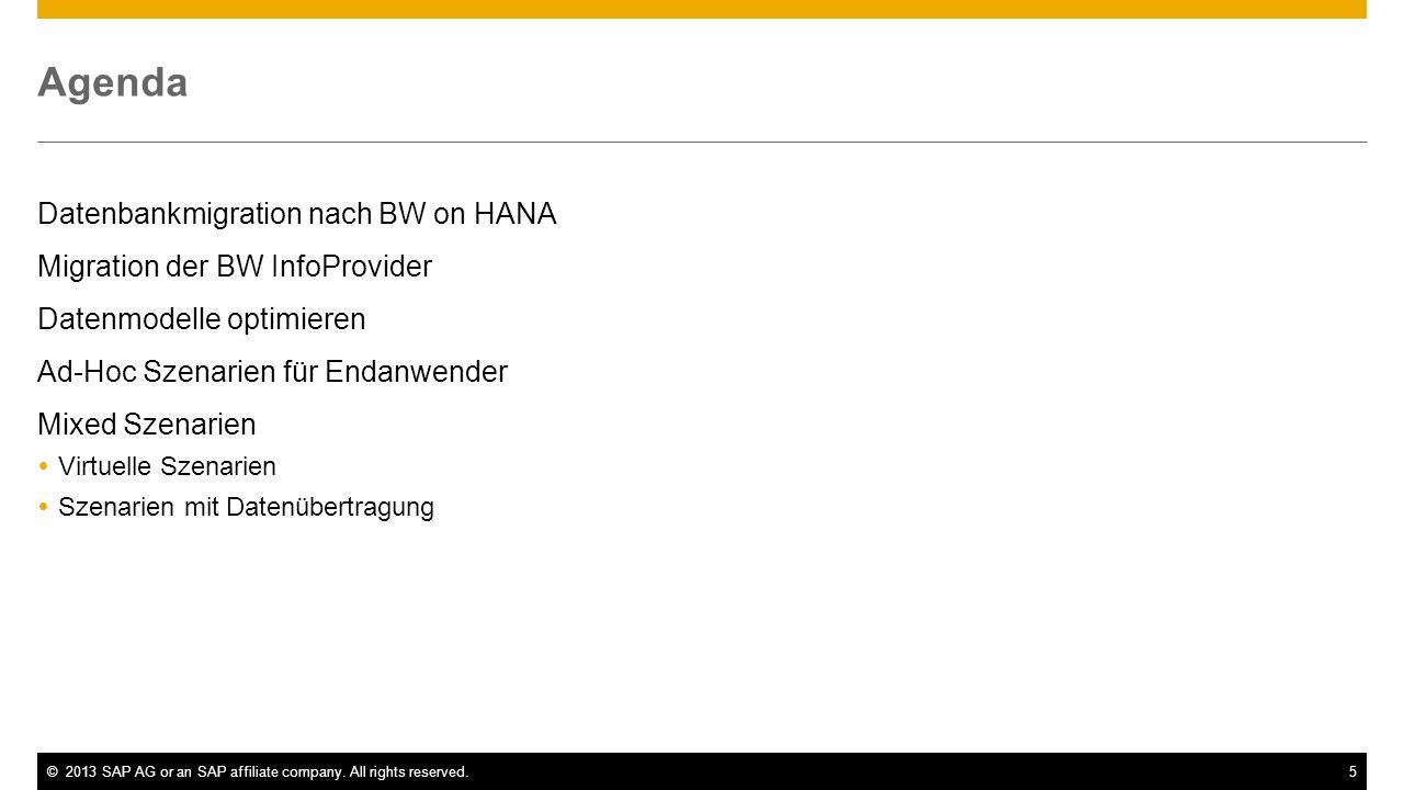 BW powered by HANA Datenbankmigration nach BW on HANA