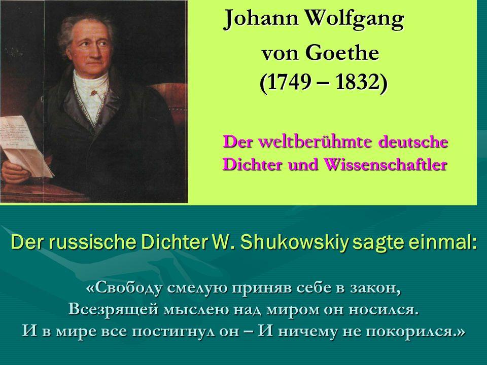 Der russische Dichter W.