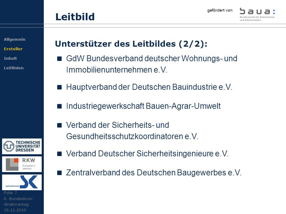 GdW Bundesverband deutscher Wohnungs- und Immobilienunternehmen e.V. Hauptverband der Deutschen Bauindustrie e.V. Industriegewerkschaft Bauen-Agrar-Um