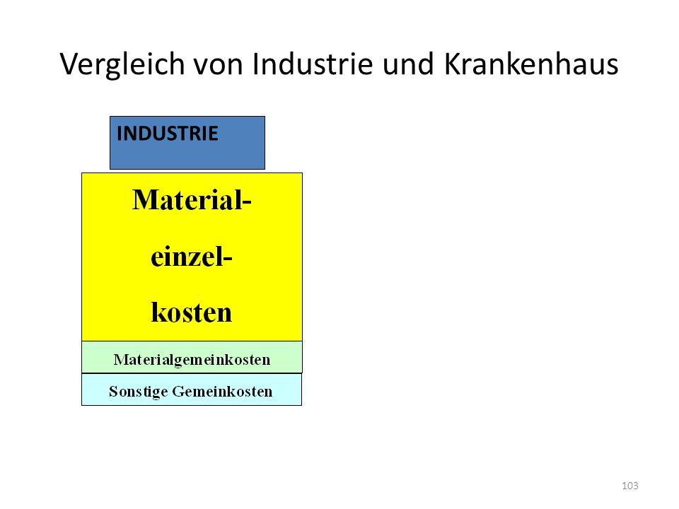 Vergleich von Industrie und Krankenhaus INDUSTRIE 103