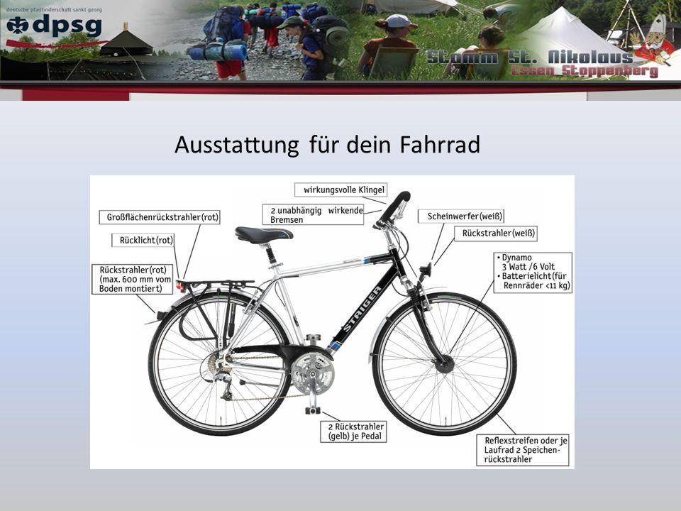 Ausstattung für dein Fahrrad