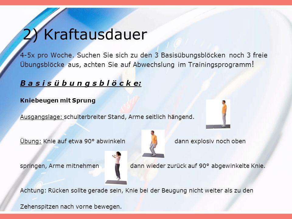 Liegestütze schulterbreit vom Stand Ausgangslage: Schulterbreiter Stand, Arme seitlich hängend.