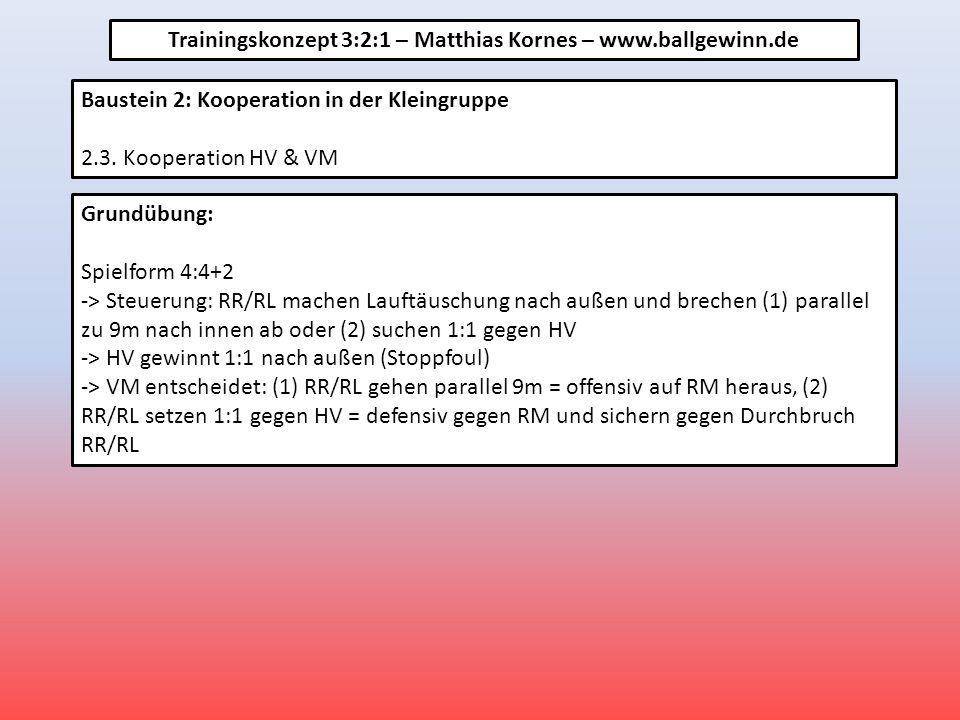 Baustein 2: Kooperation in der Kleingruppe 2.3.