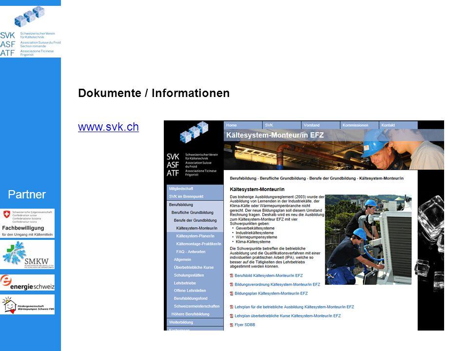 Partner Dokumente / Informationen www.svk.ch
