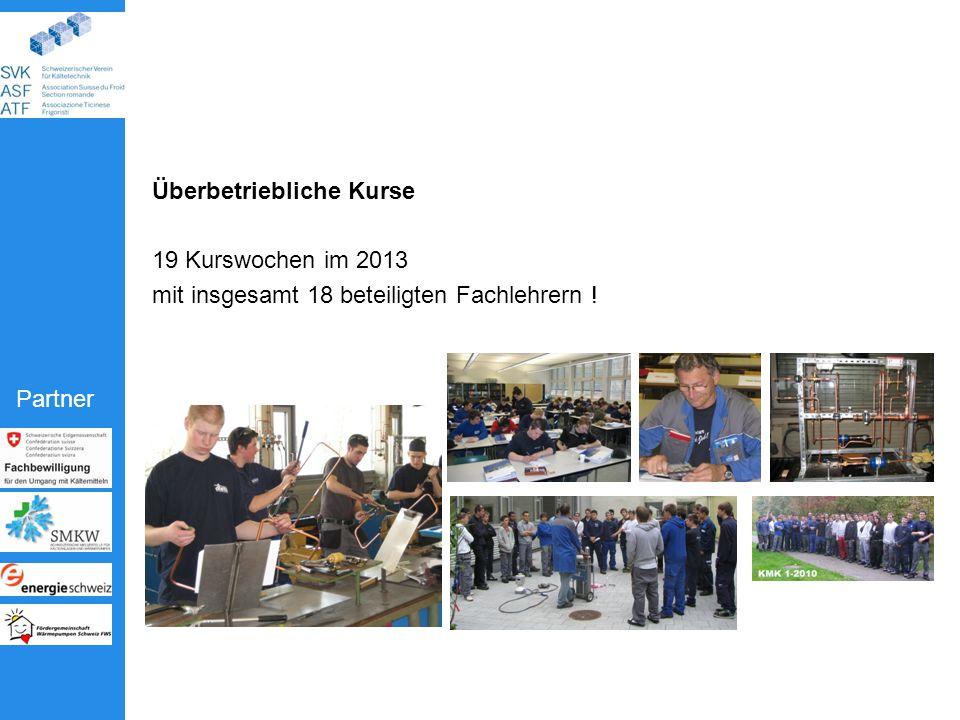 Partner Überbetriebliche Kurse 19 Kurswochen im 2013 mit insgesamt 18 beteiligten Fachlehrern !