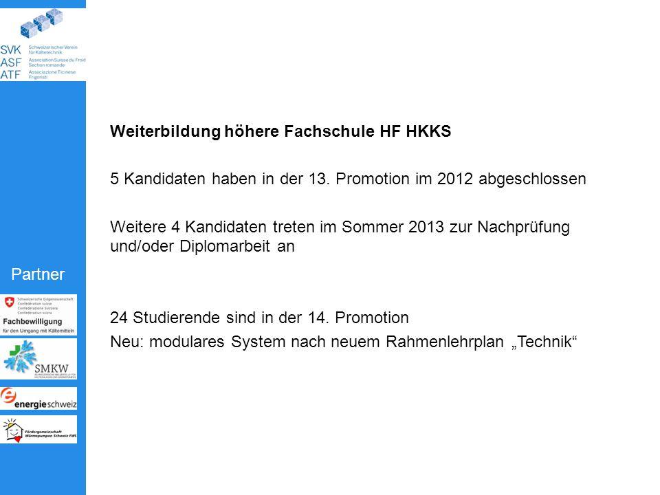 Partner Weiterbildung höhere Fachschule HF HKKS 5 Kandidaten haben in der 13.