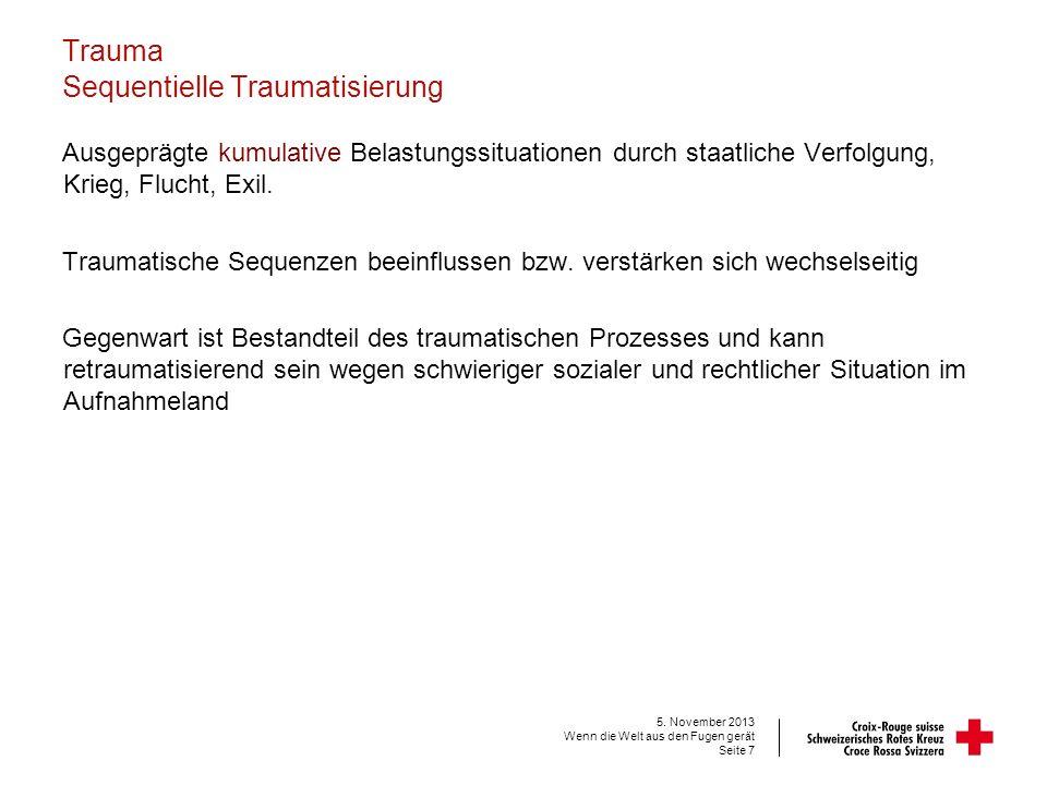Trauma Der Bausteineffekt 5. November 2013 Wenn die Welt aus den Fugen gerät Seite 8
