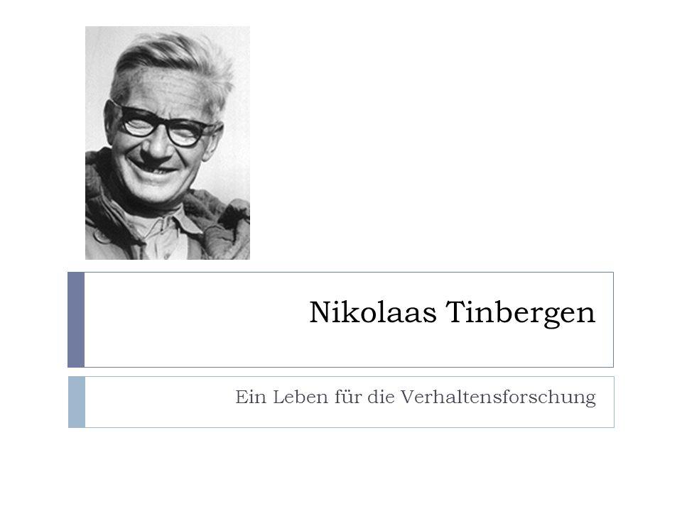 Nikolaas Tinbergen Ein Leben für die Verhaltensforschung