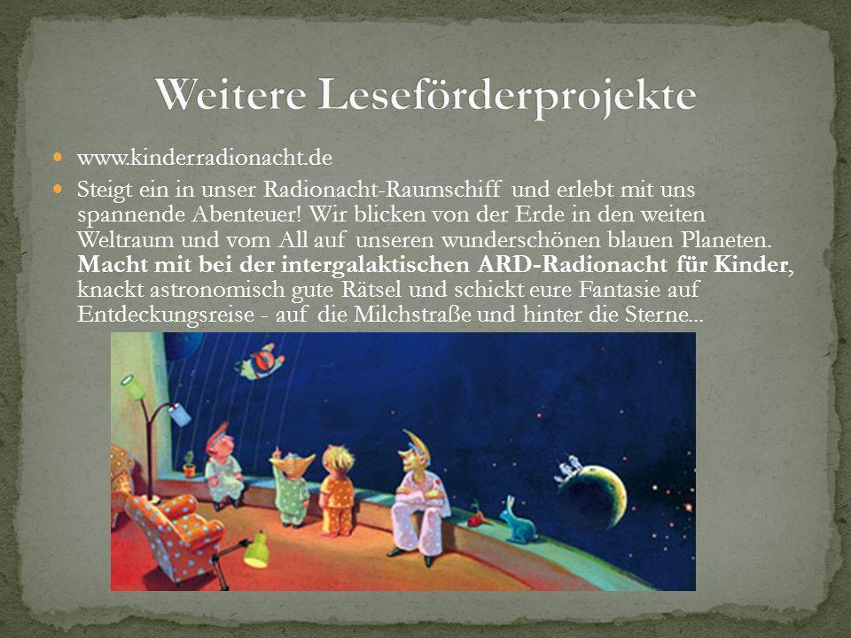 www.kinderradionacht.de Steigt ein in unser Radionacht-Raumschiff und erlebt mit uns spannende Abenteuer! Wir blicken von der Erde in den weiten Weltr