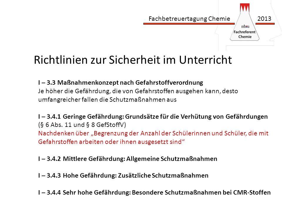 Fachbetreuertagung Chemie 2013