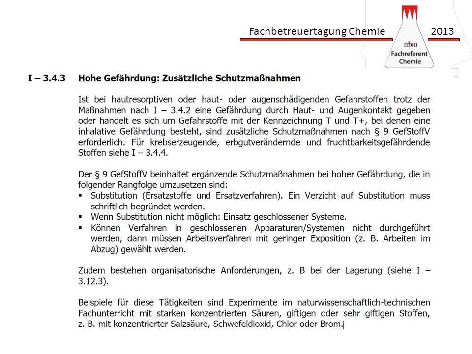 Fachbetreuertagung Chemie 2013 Vielen Dank für Ihre Aufmerksamkeit www.fachreferent-chemie.de