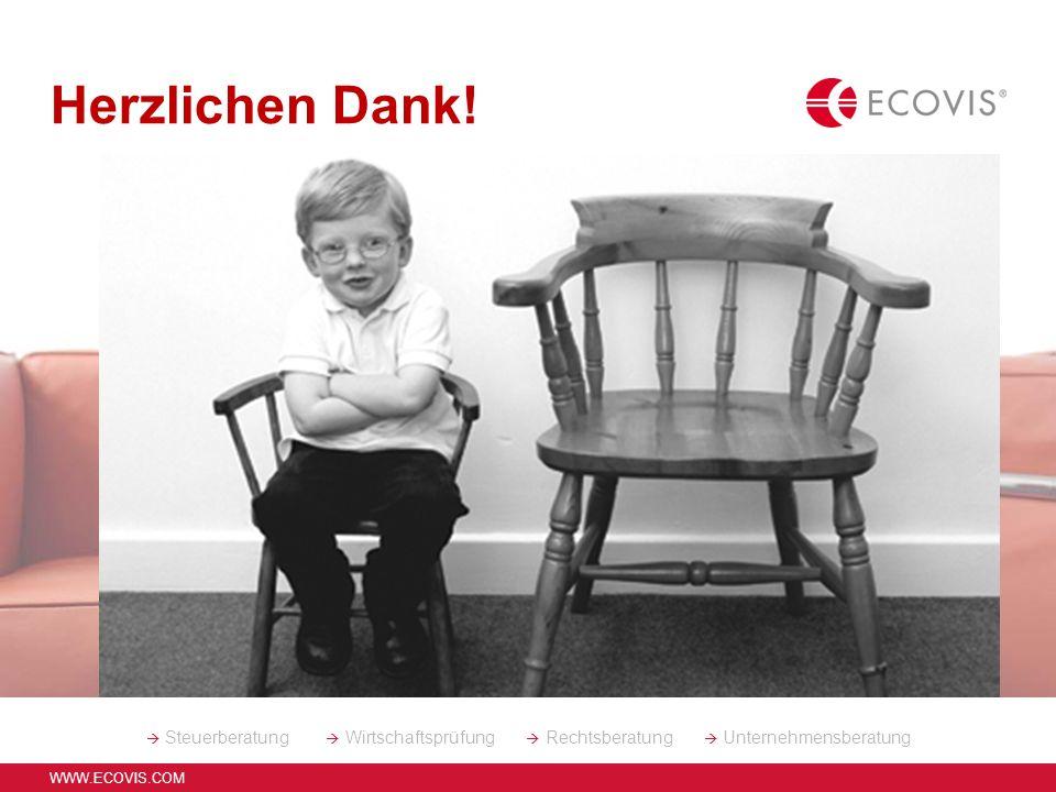 WWW.ECOVIS.COM Referent: Dirk Stern, StB 12 ELStAM Buchhaltung und Jahresabschluss bei GMB: Finanzbuchhaltung 2013 Fortsetzung der bereits in 2012 beg