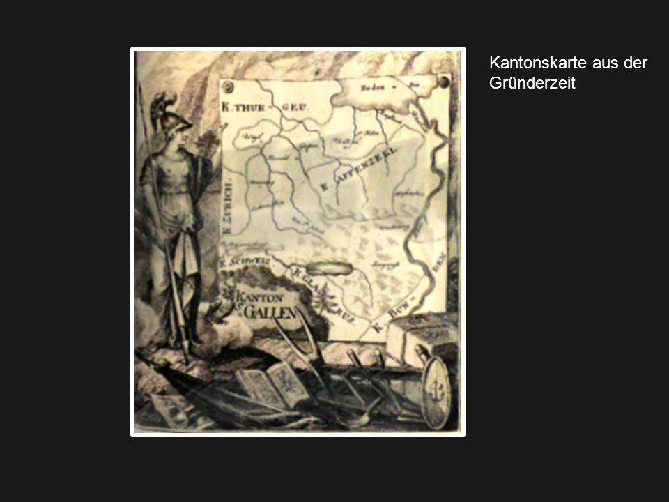 Kantonskarte aus der Gründerzeit