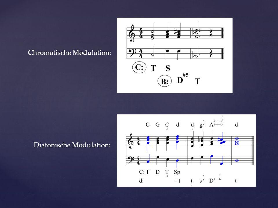 Chromatische Modulation: Diatonische Modulation: