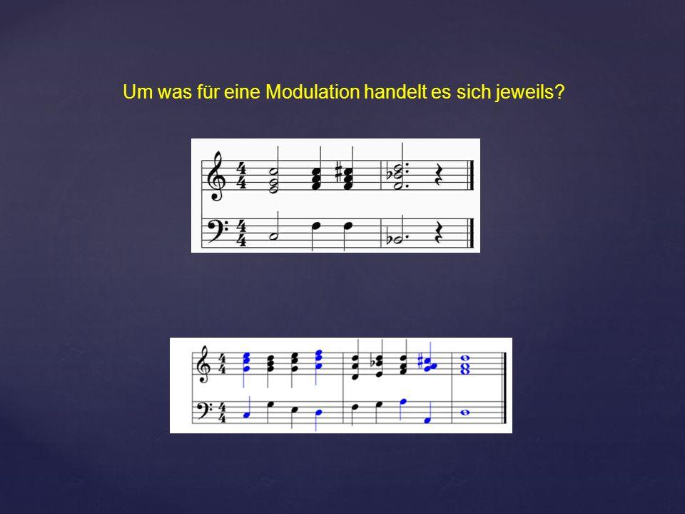 Um was für eine Modulation handelt es sich jeweils?