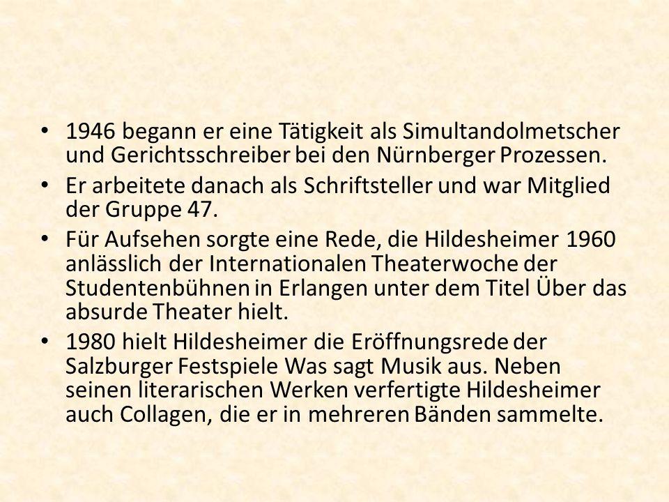 Die Gruppe 47 Die Gruppe 47 war eine Strömung gegen das bestehende System Sie wurde nach dem zweiten Weltkrieg,also 1947 gegründet Mitglied dieser Gruppe waren sowohl deutsche als auch jüdische Autoren İnteressant ist,dass diese Gruppe zum grossen Teil aus jungen Autoren bestand