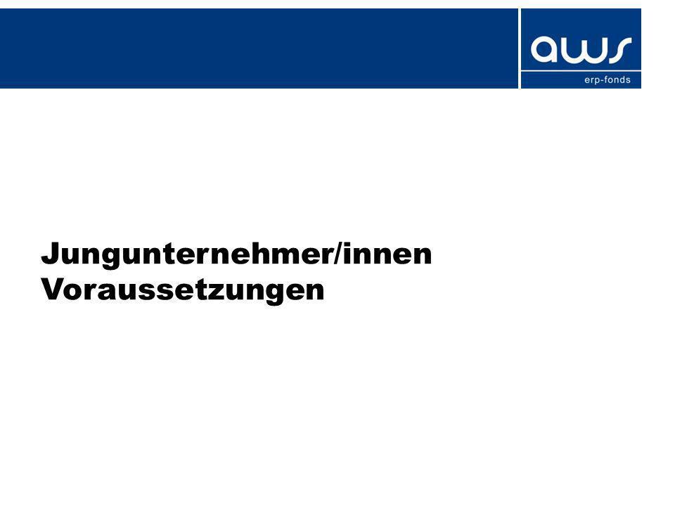 Jungunternehmer/innen – Garantie Garantien für Betriebsmittelkredit –bis EUR 100.000 endfällig mit 80% Garantie –ab EUR 100.000 drei Jahre tilgungsfrei und zwei Jahre Tilgung mit 80% Garantie ODER Endfällig mit 50% Garantie bis EUR 600.000 laufende Tilgung mit 80% Garantie (wie Investitionskredit) Antragseingang ab 01.01.2013 –Rückhaftung EIF (CIP-Programm) –Garantieentgelt – unabhängig vom Risiko – 0,6% p.a.