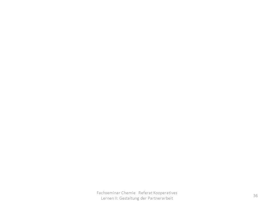 Fachseminar Chemie Referat Kooperatives Lernen II: Gestaltung der Partnerarbeit 36