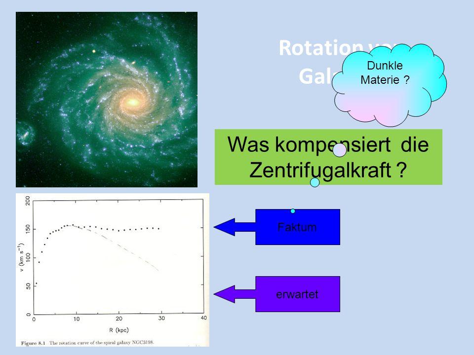 Helle und Dunkle Materie Es gibt etwa 7 mal mehr dunkle Materie als helle