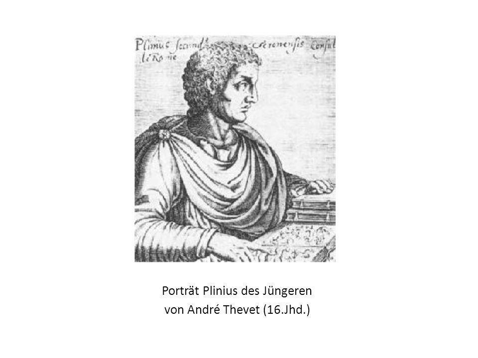 Porträt Plinius des Jüngeren von André Thevet (16.Jhd.)
