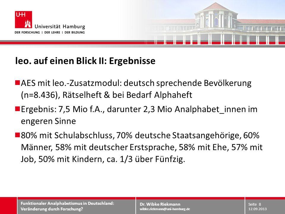 Dr.Wibke Riekmann wibke.riekmann@uni-hamburg.de WORÜBER SPRECHEN WIR.