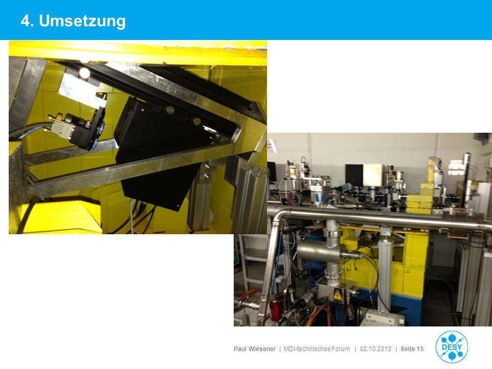Paul Wiesener | MDI-technisches Forum | 02.10.2013 | Seite 15 4. Umsetzung