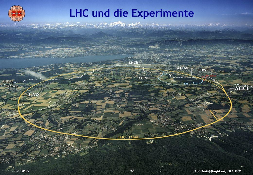 HighHeels@HighEnd, Okt. 2011 LHC und die Experimente C.-E. Wulz14HighHeels@HighEnd, Okt. 2011