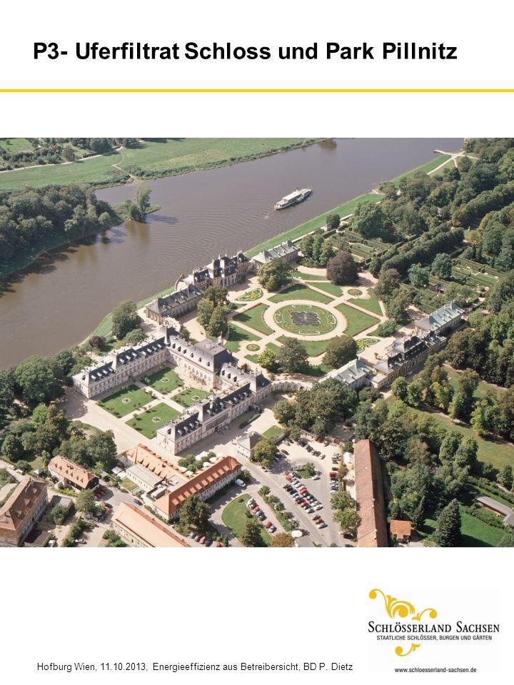 Hofburg Wien, 11.10.2013, Energieeffizienz aus Betreibersicht, BD P. Dietz P3- Uferfiltrat Schloss und Park Pillnitz