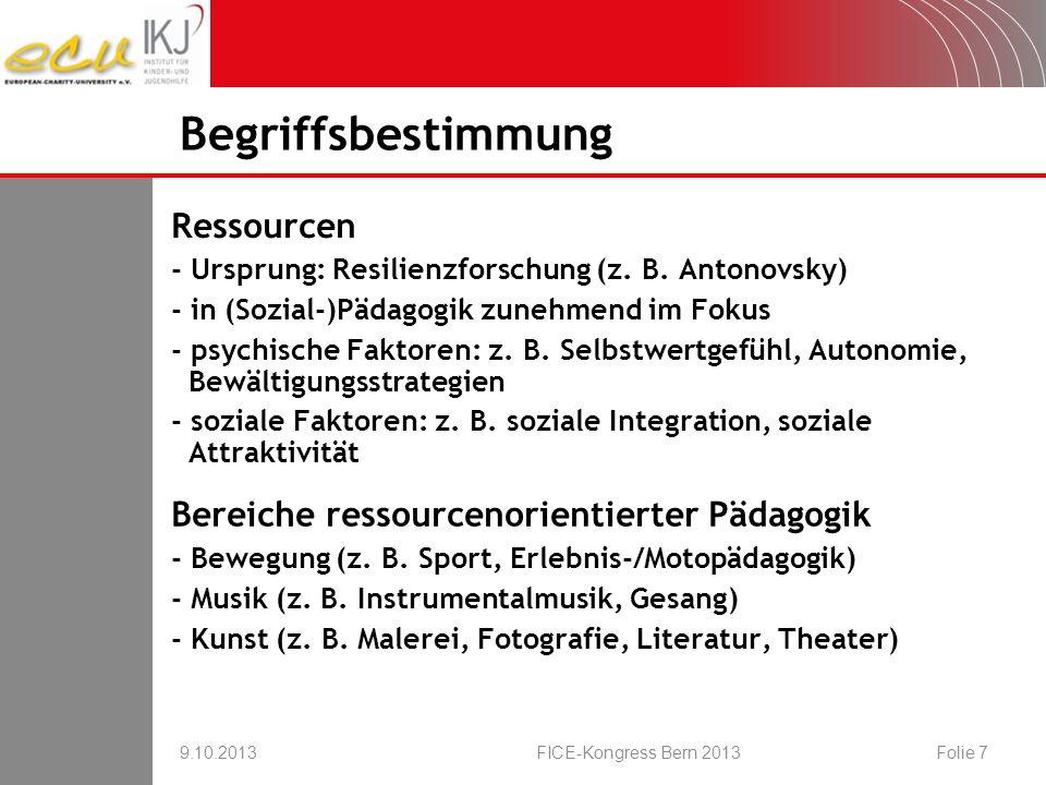 Forschungsergebnisse 9.10.2013FICE-Kongress Bern 2013Folie 8