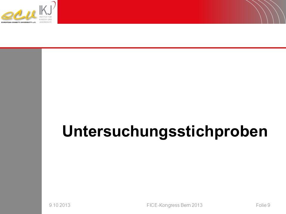 Stellenwert für Erz.-/Bildungskonzept 9.10.2013FICE-Kongress Bern 2013Folie 20 Online- Befragung