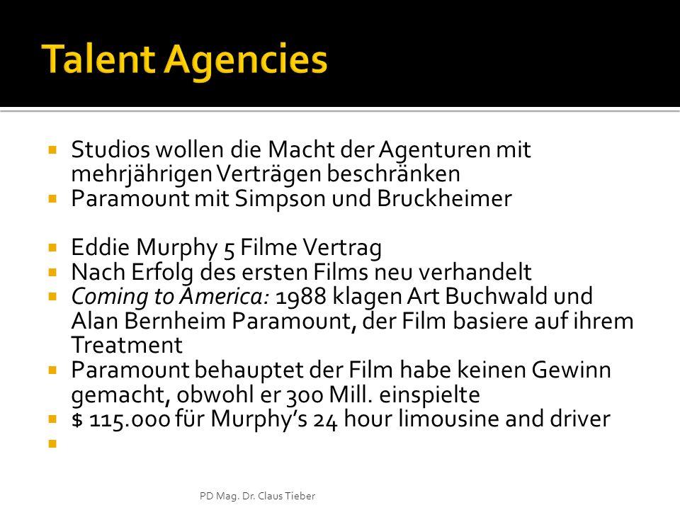 Studios wollen die Macht der Agenturen mit mehrjährigen Verträgen beschränken Paramount mit Simpson und Bruckheimer Eddie Murphy 5 Filme Vertrag Nach