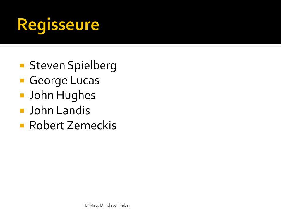 Steven Spielberg George Lucas John Hughes John Landis Robert Zemeckis PD Mag. Dr. Claus Tieber