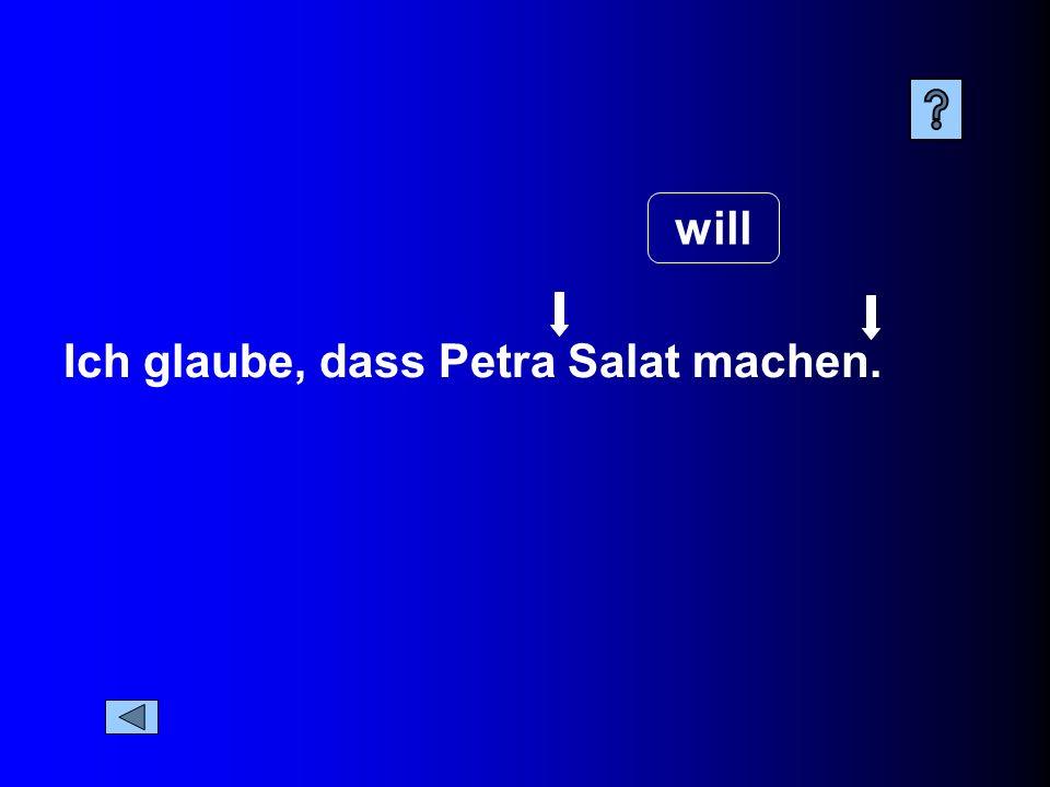 Ich glaube, dass Petra Salat machen. will