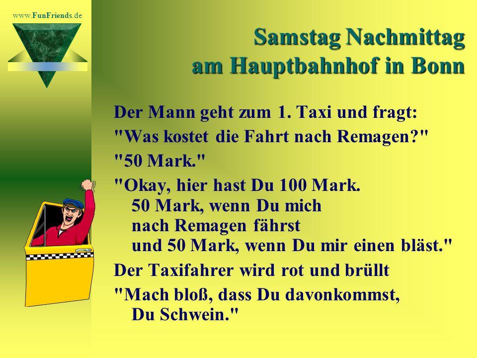 www.FunFriends.de Samstag Nachmittag am Hauptbahnhof in Bonn Der Mann geht zum 1.