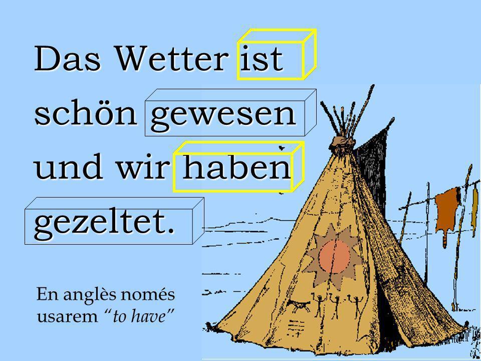 Uns pocs verbs irregulars es comporten com si fossin regulars i només afegeixen el prefix ge- i el sufix -t. bringen denken kennen wissen bringen denk
