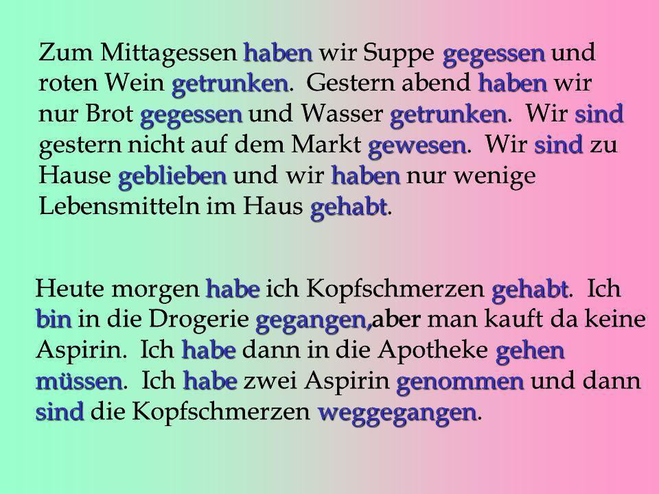 - ieren Quan un verb en infinitiu acaba en -ieren, tampoc usarem el prefix ge- studierenIch habe Deutsch studiert. reparierenVater hat unser Auto repa
