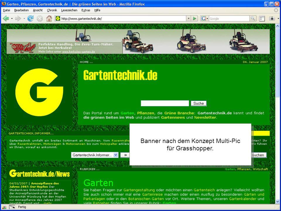 Banner nach dem Konzept Multi-Pic für Grasshopper.