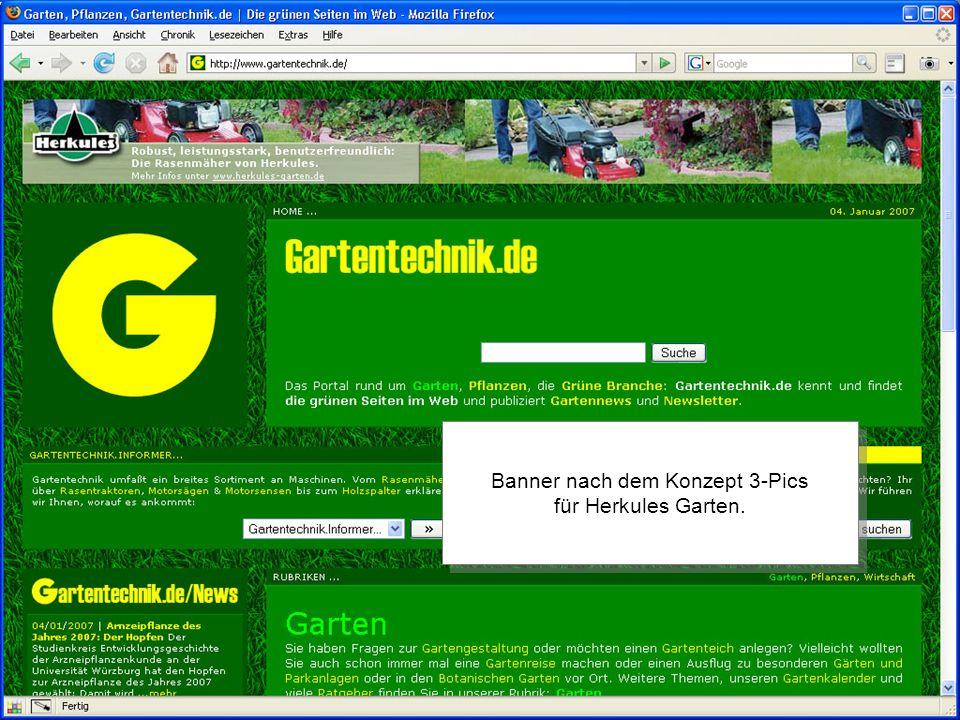 2006 by //SEIBERT/MEDIA Banner nach dem Konzept 3-Pics für Herkules Garten.