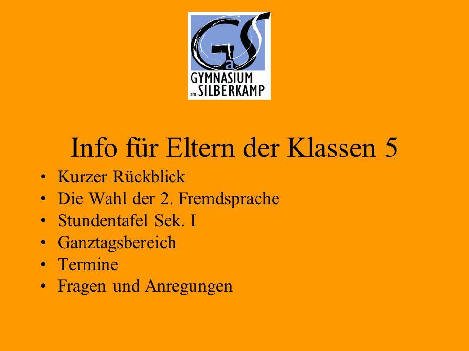 Es informieren: - Schulleiter Herr Hesse - Frau Kemper (Franz.) - Herr Szczepanek (Franz.) - Herr Schwehm (Spanisch) - Herr Raabe (Lat.) - Schüler/innen
