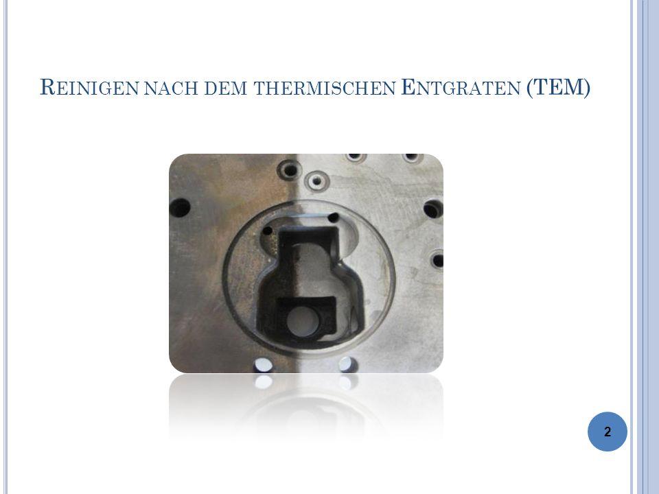 I NHALT 1.Der thermische Entgratprozess (TEM) 2. Aufgaben an das Reinigen 3.