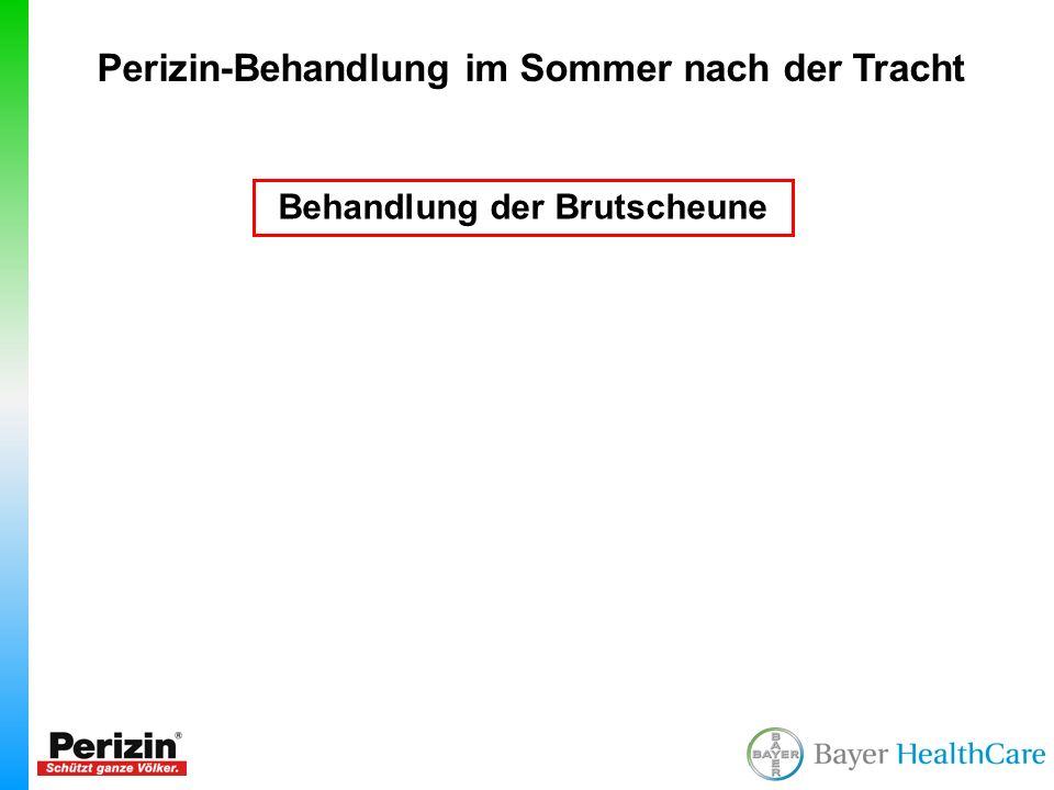 Perizin-Behandlung im Sommer nach der Tracht Behandlung der Brutscheune