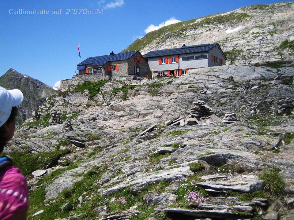 Cadlimohütte auf 2570 müM