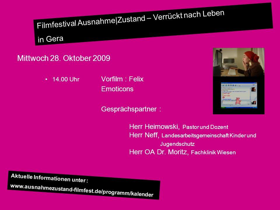 Filmfestival Ausnahme Zustand – Verrückt nach Leben in Gera Donnerstag 29.