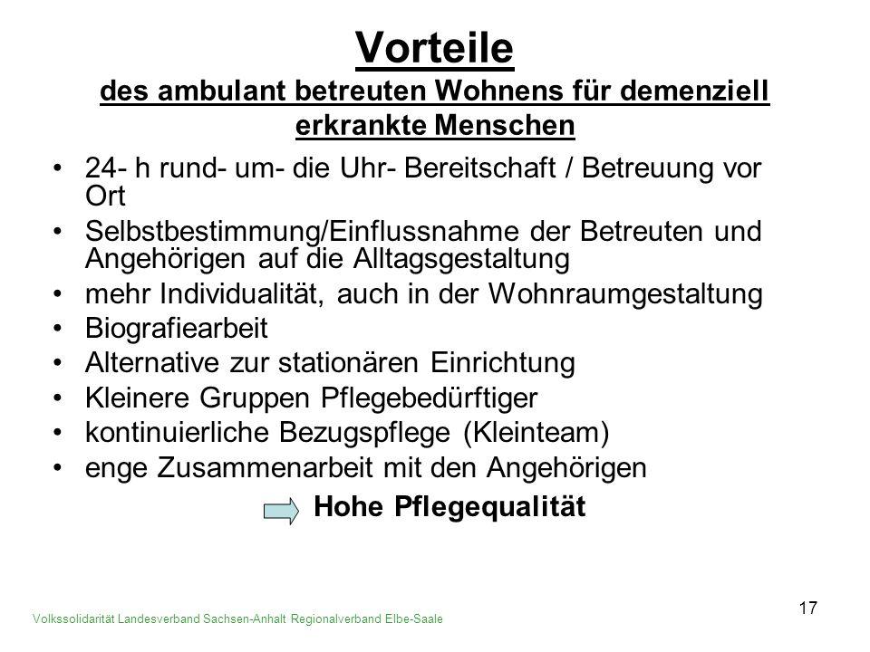 18 Betreute Volkssolidarität Landesverband Sachsen-Anhalt Regionalverband Elbe-Saale